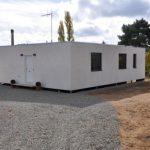 Fachada de casa prefabricada modular