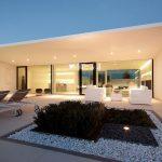 Casa minimalista fachada una planta