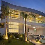 Fachadas curvas de casas